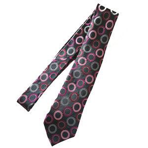 Men Arrow Circles Necktie black/multi